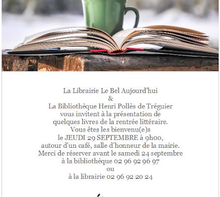 Présentation de la rentrée littéraire !